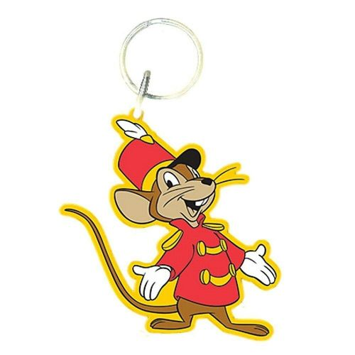 Disney Dumbo Timothy Q Mouse Keyring Rubber Keychain